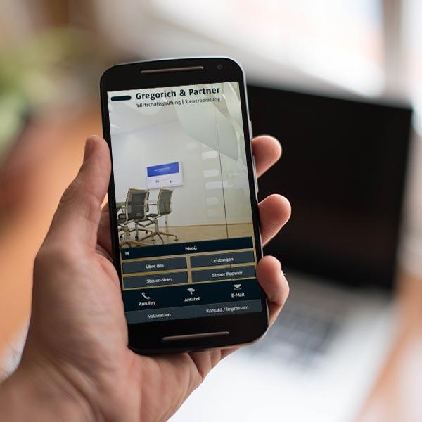 Mobile Website Gregorich & Partner