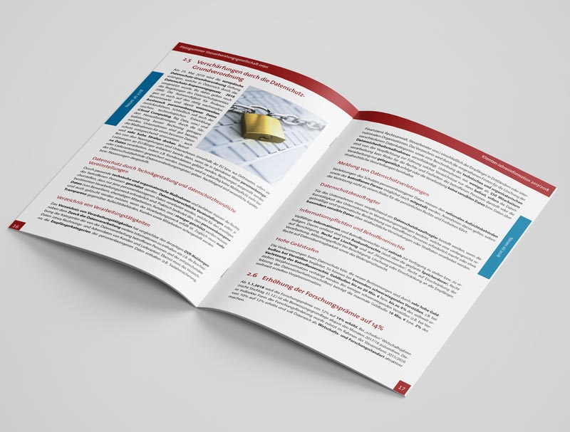 Klienten-Jahresinfo Broschüre